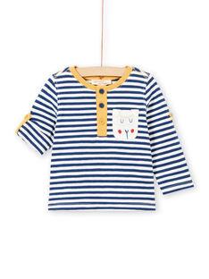 Baby Boy Long Sleeve Striped Roll Up T-Shirt MUJOTUN2 / 21WG1024TML713