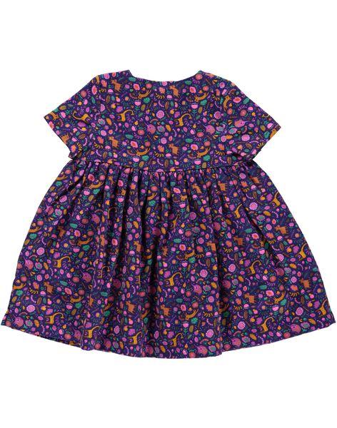Baby girls' flannel dress DIVIOROB3 / 18WG09H3ROB099
