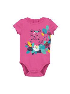 Baby girls' short-sleeved bodysuit FEFIBODPAN / 19SH13I5BDL712