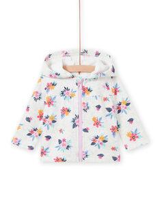 Baby girl grey floral sweater MIPLAHOJOG / 21WG09O1JGHJ920