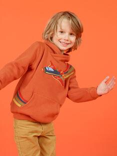 Boy's orange airplane sweatshirt MOCOSWE / 21W902L1SWE408