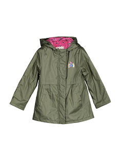 Girls' hooded parka FAKAPARKA / 19S901X1PAR628