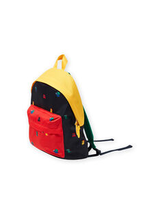Boy's colorblock backpack with monster print MYOCLASAC / 21WI02G1BES705