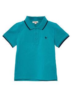 Dark Turquoise Polo shirt JOJOPOL2 / 20S90254D2DC217