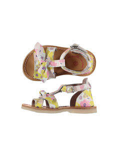 Baby girls' smart leather sandals FBFSANDAOP / 19SK37C5D0E099