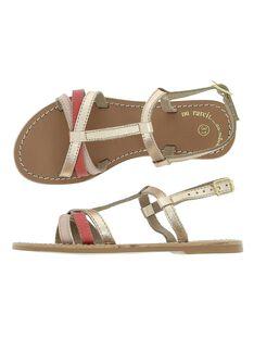 Girls' leather sandals CFSANDLINE / 18SK35WCD0E030