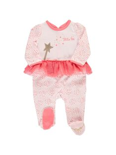 Baby girls' cotton sleepsuit CEFIGREFEE / 18SH1354GRE099