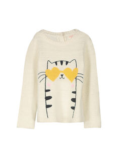 Girls' fancy knit sweater FALIPULL / 19S90121PUL001