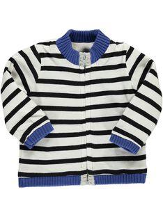 Baby boys' plain cardigan CUBENGIL1 / 18SG10G2GIL943