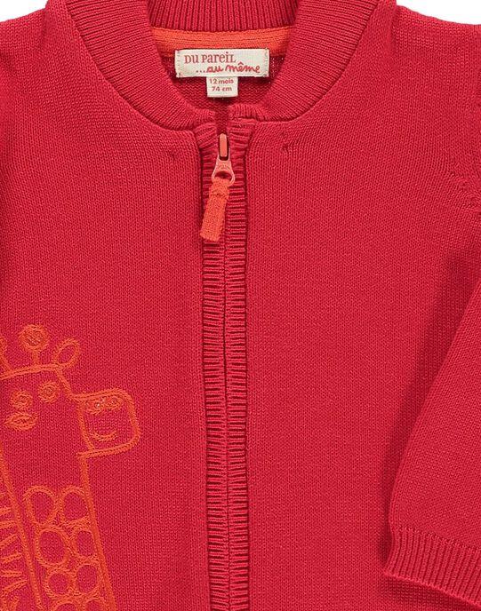Baby boys' cotton cardigan CUJOGIL3B / 18SG10R6GIL050