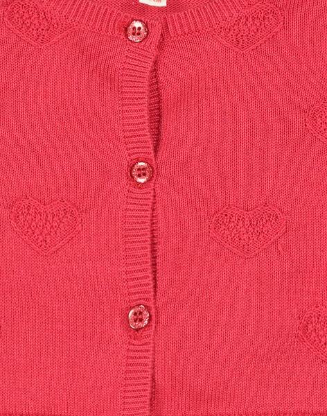 Baby girls' cotton cardigan FICOCAR3 / 19SG0983CAR050