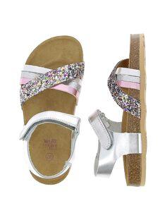 Girls' leather sandals CFNUMULTI / 18SK35WOD0E099