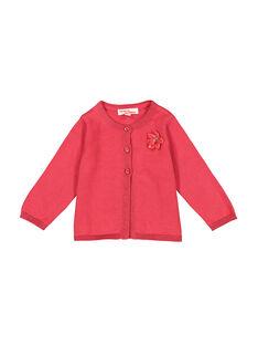Baby girls' pink cardigan FIJOCAR2 / 19SG0932CAR308