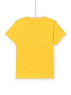 Boy's yellow short sleeve t-shirt LOTERTI2 / 21S902V5TMCB114