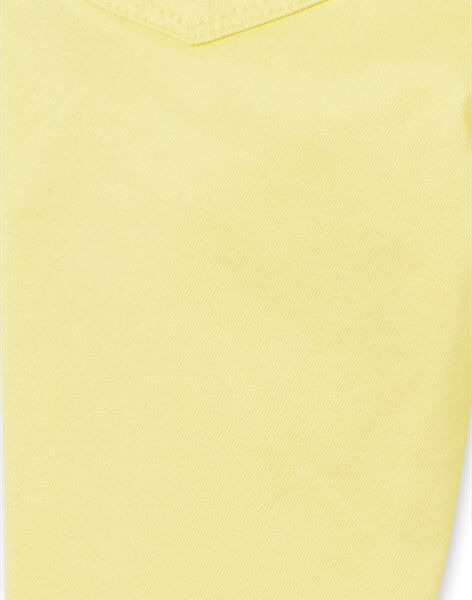 Yellow jeggings in dyed garment LAJOJEG4 / 21S90141D2B116