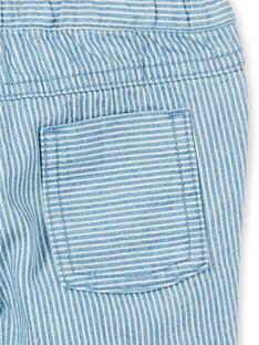Baby boy striped jeans with belt LUCANPAN1 / 21SG10M1PANP272
