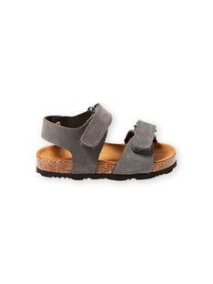 baby boy grey sandals LBGNUGRIS / 21KK3855D0E940