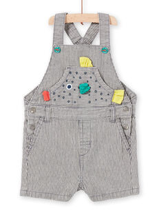 Grey dungarees mottled baby boy LUVISAC / 21SG10U1SAC943