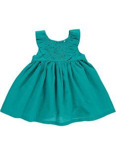 Baby girls' short-sleeved dress CIFRIROB3 / 18SG09H2ROB202