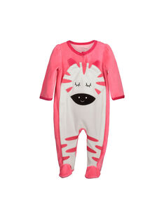 Baby girls' velour sleepsuit FEFIGREANI / 19SH1343GRED308