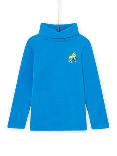 Child boy's blue dragon sweater MOSKISOUP / 21W902R1SPLC221