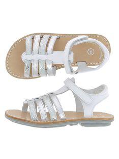 Girls' leather sandals CFSANDIBEL / 18SK35W2D0E000
