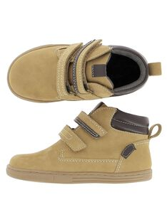 Boys' leather boots DGBOOTBAS / 18WK36T3D0D804