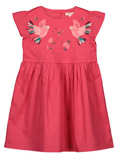 Girls' trapeze dress GAVEROB1 / 19W90121ROBD318