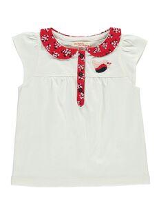 Baby girls' short-sleeved T-shirt CIDEPOLO / 18SG09F1BRA001