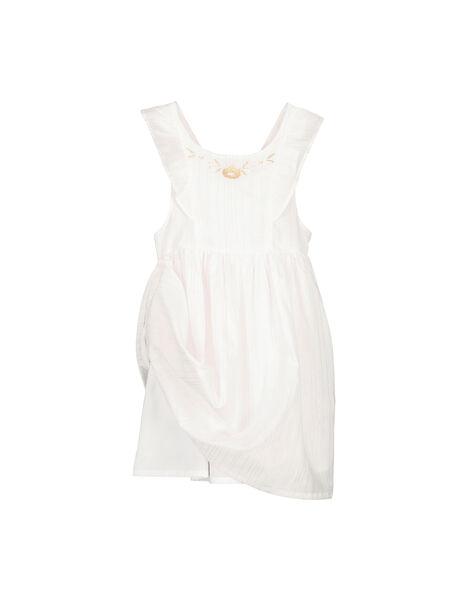 Girls' sleeveless dress FAPOROB1 / 19S901C1ROB000