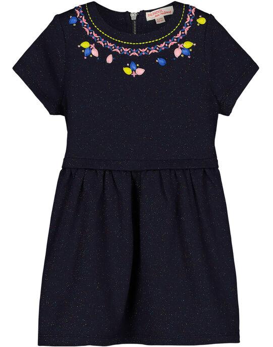 Girls' glitter knit trapeze dress GABLEROB2 / 19W90191ROB070