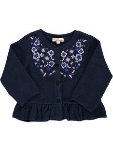 Baby girls' cotton knit cardigan CIKLECAR1 / 18SG09D1CAR070