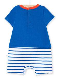 Baby boy's striped short jumpsuit LEGAGREMAR / 21SH14C4GREC238