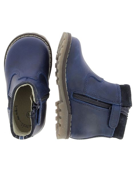 Baby boys' leather boots DBGBOOTJO / 18WK38T3D0D070