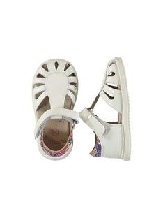 Baby girls' smart leather sandals FBFSANDPIX2 / 19SK37D1D0E000