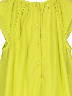 Girls' cotton dress FAPOROB3 / 19S901C3ROB605