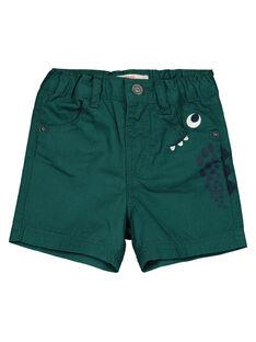 Baby boys' green shorts GUVEBER / 19WG1021BER608