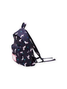 Girl's backpack with unicorn, flower and bird print MYACLABAG / 21WI01G1BESC205