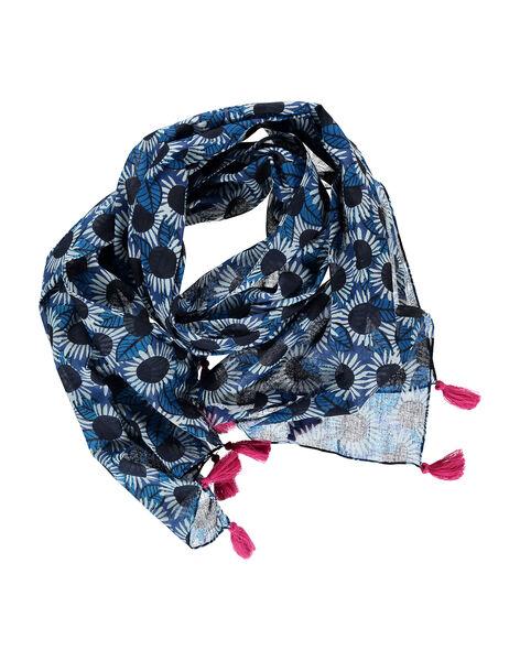 Girls' fancy print scarf FYANEFOUL / 19SI01B1FOU099