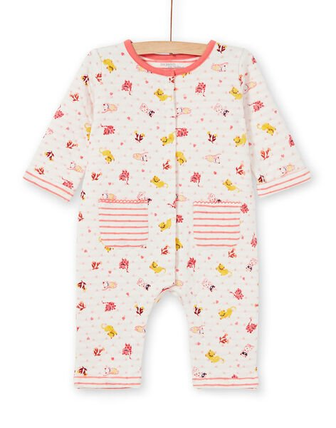 Girl's quilted cat print sleep suit LEFIGRENAU / 21SH1313GRE001