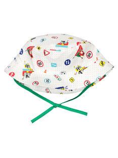 Baby boys' printed hat FYUCOBOB / 19SI1081CHA099