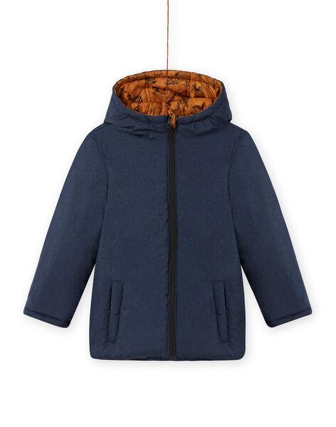 Boy's reversible chambray hooded jacket MOGROBLOU2 / 21W90253BLOP267