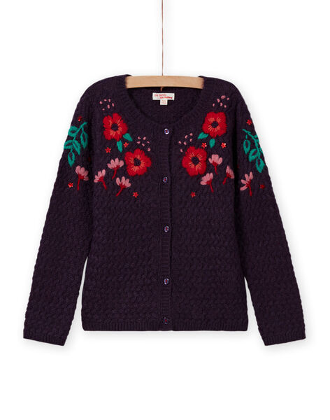 Baby girl's long sleeve floral embroidered cardigan MAFUNCAR2 / 21W901M1CARH703