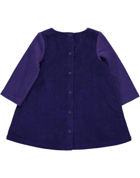 Baby girls' velour dress DIVIOROB1 / 18WG09H1ROB711