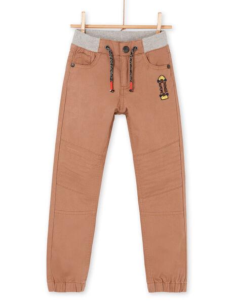 Light brown pants - Child boy LOPOEPAN1 / 21S902Y1PANI802