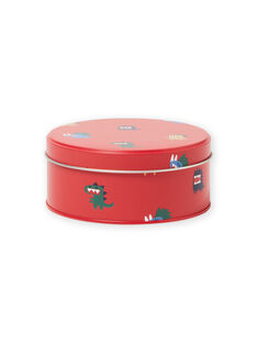 Boy's red metal snack box with dinosaur design MYOCLABOI / 21WI02G1D5OF521
