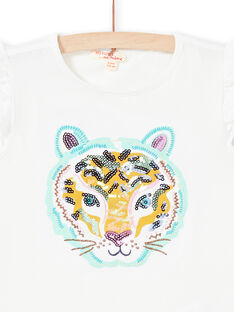 Girl's tiger head short sleeve T-shirt LAVERTI4 / 21S901Q4TMC001