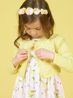 Long-sleeved vest with pineapple sequins embroidered LAJAUCAR1 / 21S901O2CAR116