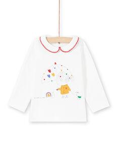Baby Girl Ecru T-Shirt MIMIXBRA / 21WG09J1BRA001