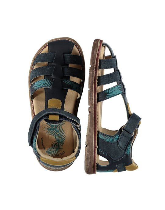 Boys' smart leather sandals FGSANDPALM / 19SK36D3D0E070